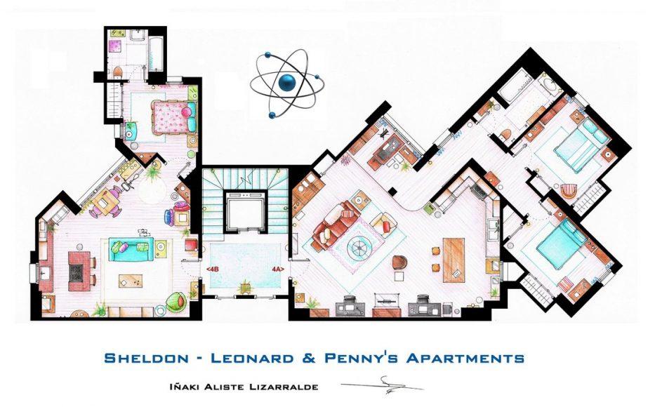 квартиры Пенни и Шелдона и Леонарда («Теория большого взрыва»)
