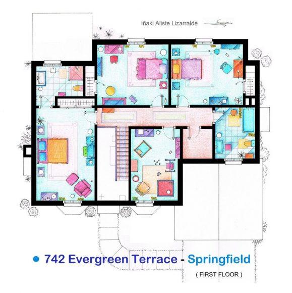 Второй этаж дома Симпсонов («Симпсоны»)
