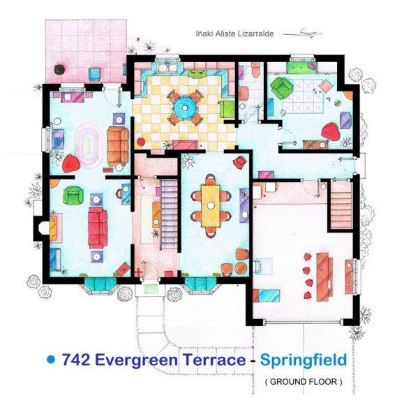 Первый этаж дома Симпсонов («Симпсоны»)