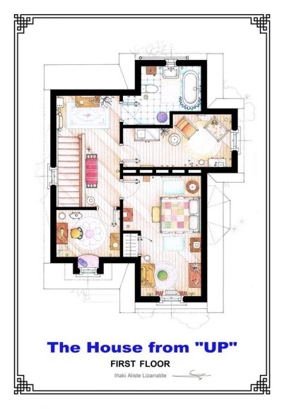 Второй этаж дома Элли и Карла Фредриксен («Вверх»)