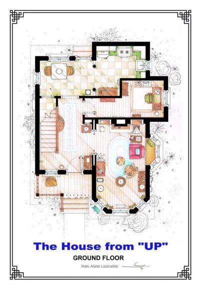 Первый этаж дома Элли и Карла Фредриксен («Вверх»)