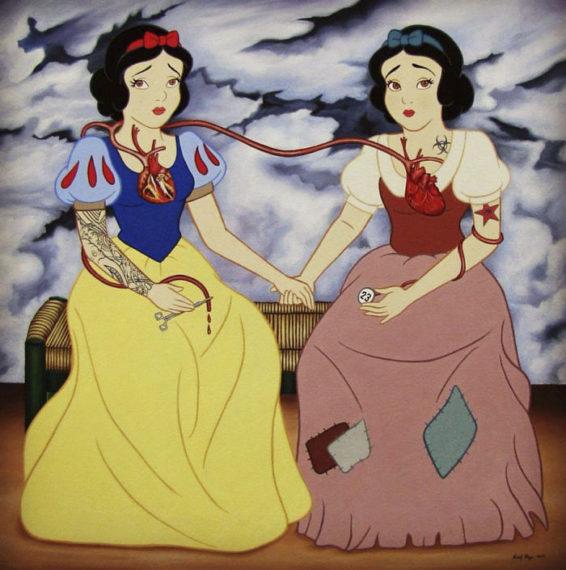 Новости  Иллюстрации, демонстрирующие персонажей Disney в современных реалиях
