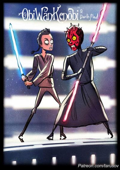 Новини  Ілюстратор намалював персонажів «Зоряних воєн» в стилі Тіма Бертона